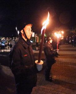25.10.14: IVERSEN, Dernbach, Großer Zapfenstreich, Abschluss des Festjahres 825 Jahre Dernbach.